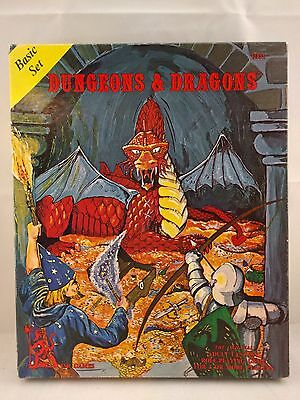 Dungeons & Dragons Basic Set – 3rd print complete with dice TSR GYGAX