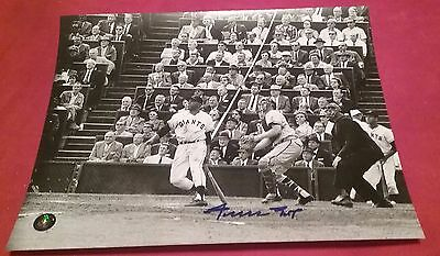 GIANTS WILLIE MAYS AUTOGRAPHED SIGNED 8x10 BASEBALL PHOTO SAY HEY COA JSA PSA