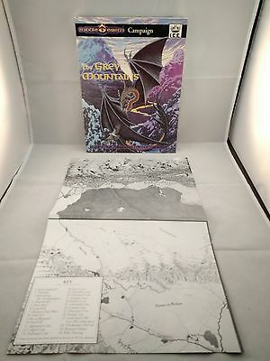 MERP- Middle Earth The Grey Mountains Rare Module with MAP Dungeons & Dragons