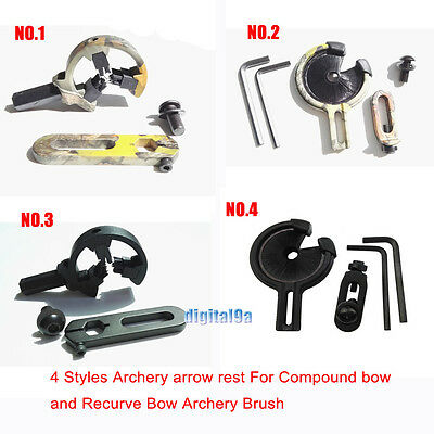 1XArchery arrow rest For Compound bow and Recurve Bow Archery Brush Hostage 1-4