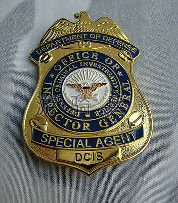 Obsolete USA SPECIAL AGENT Copper Shoulder Arm Badge Cosplay Insignia Collection