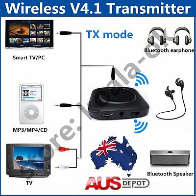Q16 Wireless Bluetooth V4.1 Transmitter Audio Receiver Dongle Adapter AU