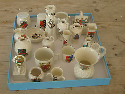Crested China 23 Assorted Pieces