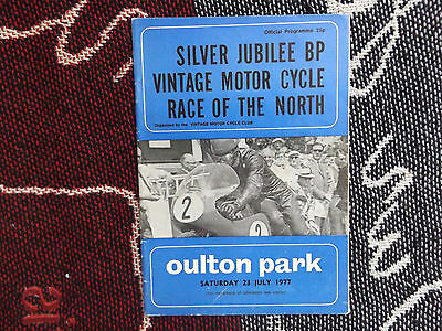1977 Oulton Park Motorcycle Programme 23/7/77 - Vintage Race Of The North