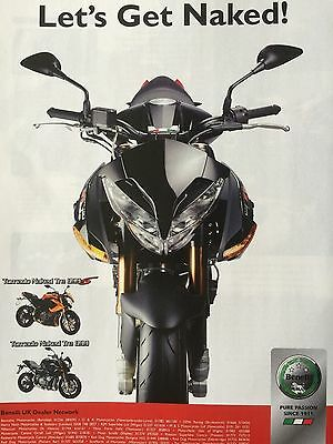 Benelli Tornado Naked Tre 899  # 2008 Models # 1 Page Original Motorcycle Advert