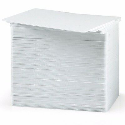 100 CR80 30Mil Blank White PVC Plastic Credit, Gift, Photo ID Cards NEW