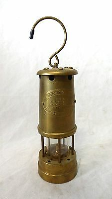 Grubenlampe British Coal Mining Made in Wales U.K. Lampe Aberaman Messing Antik