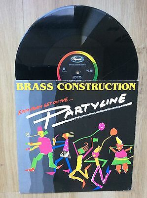 """BRASS CONSTRUCTION Everybody Get On The Partyline 12"""" VINYL Record 1984 Disco"""