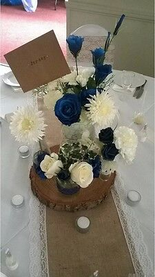Log Slice Table Centre Piece 25-30cm Wood Wedding Display Approx 4cm thick