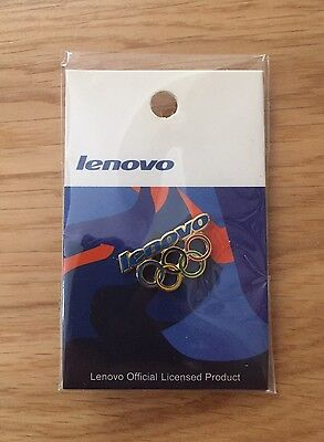 Lenovo Olympic Pin Badge. 2006 Winter & 2008 Summer Olympics. Brand New & Sealed
