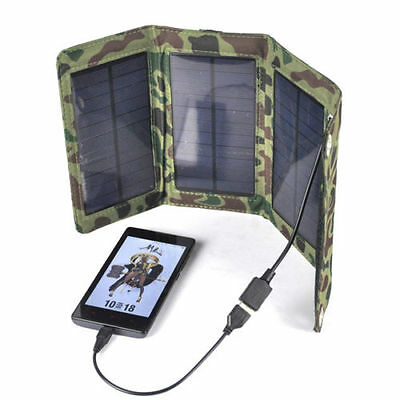 Portable 50W Foldable Solar Panel Battery Charger USB Power Bank Pack For Phone