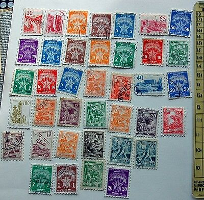 Mixed Set 37 Of Old Stamps Denmark  See Photos Lot 31