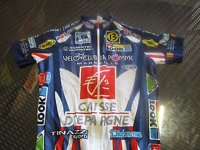 maillot cyclisme equipe pro marseille  taille 3 tinazzi