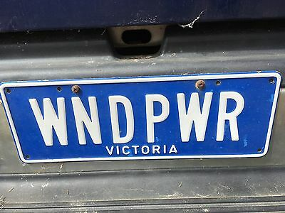 Personalised VIC Number Plates - WNDPWR