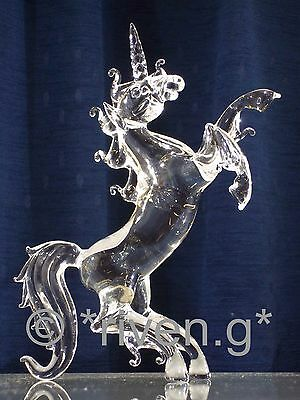 UNICORN Figurine@CRYSTAL Glass@MYTHICAL BEAST@UNIQUE FANTASY Gift@Favourite@HORN