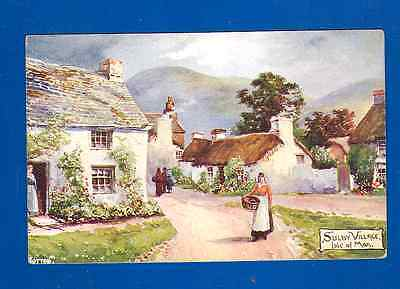 Postcard Sulby Old Village Isle Of Man-Jotter-The Aquarelle Series No. 2011