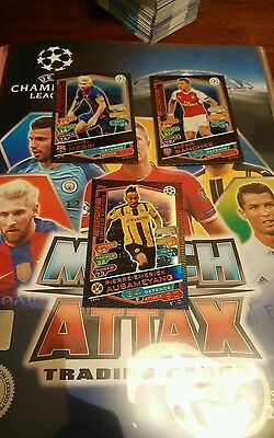 Set Limited Edition Serie Bronzo Champions League 2016-17 Match Attax Topps