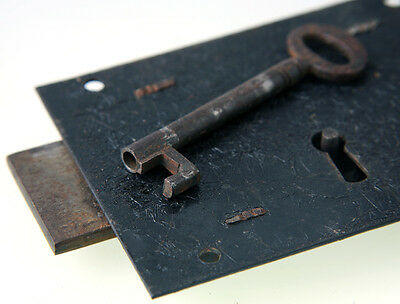 ** Vintage Door Lock With Original Key - Possibly Victorian - Fully Working **