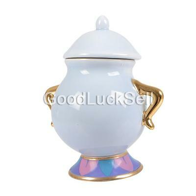 Limited Edition Beauty and The Beast Sugar Bowl Pot Ceramic Cartoon Gift CAN