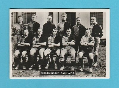 Football - Ardath - Southern Football Team  -  Westminster  Bank  A.f.c. - 1936