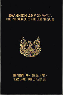 Passeport  Diplomatique Republique Hellenique