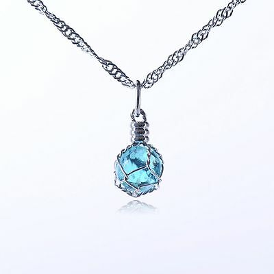 Magic Glow In The Dark Charm Chic Crystal Ball Jewelry Necklace Luminous