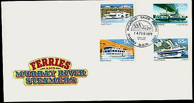 Australia FDC First Day Cover - 1979 Ferries and Murray River Steamers