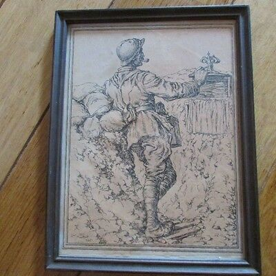 WW1 Framed French Soldier Print