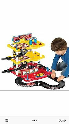 Brand new in box kids toy garage with cars