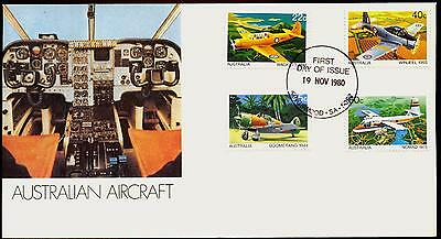 Australia FDC First Day Cover - 1980 Australian Aircraft