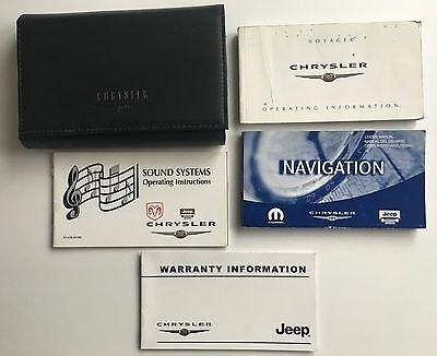 Chrysler Voyager Owners Manual Handbook Pack With Wallet & Service 2001-2004