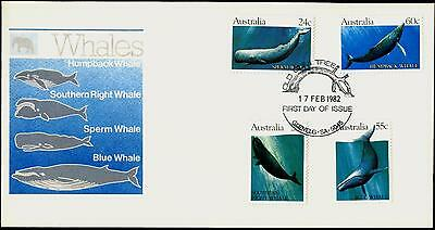 Australia FDC First Day Cover - 1982 Whales
