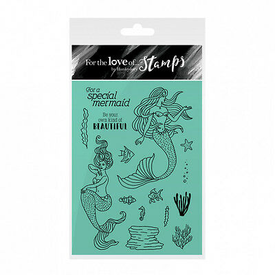 Hunkydory For The Love of Stamps Clear Stamp Set - BEAUTIFUL MERMAIDS