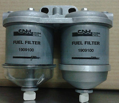 Double Cav Diesel Filter Complete With Support Tractor Fiat New Holland 1909100