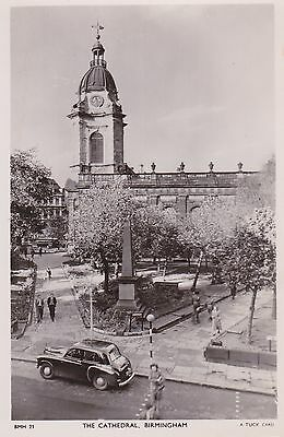 Old Postcard of Birmingham Cathedral