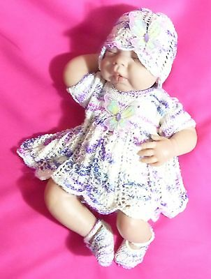 "Hand knitted Angel Outfit for 18"" - 20"" Reborn"