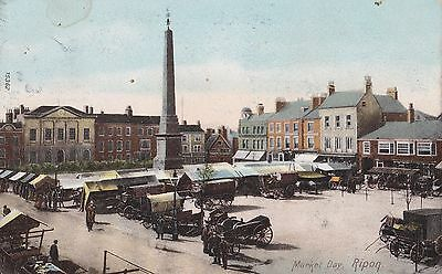 Old Postcard of Ripon Market Place