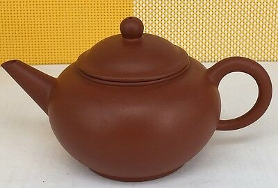 20th Century Chinese Yixing zisha teapot with markings about 100 cc