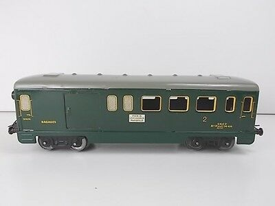 French Hornby O Gauge Mixed Baggage/Passenger Coach