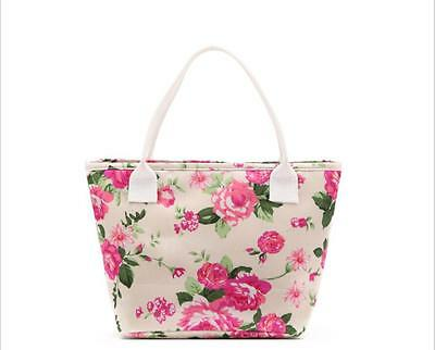 CuteLunch Box Portable Insulated Thermal Cooler Carry Tote Lona Storage Bag Case