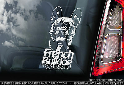 French Bulldog - Car Window Sticker -Bouledogue Français Dog Sign Frenchie -TYP2