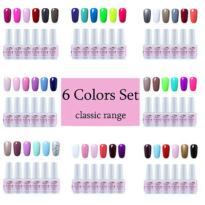 Ukiyo 8ml Soak Off UV Gel Nail Polish Gelpolish Kit Need No Wipe Top Base Coat