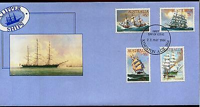 Australia FDC First Day Cover - 1984 Clipper Ships