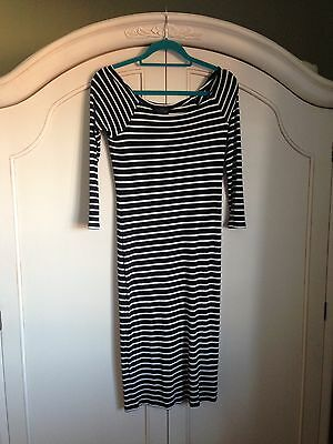 Topshop Maternity Striped Dress Size 10 Used