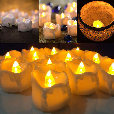 Halloween LED Yellow Flicker Battery Candles Electric Candles Tea Lights
