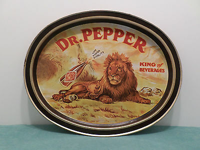 Metal Tray Dr. Pepper King of Beverages Reproduction 1979 USA