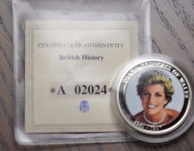 Princess Diana British Medallion Coin Silver Plated