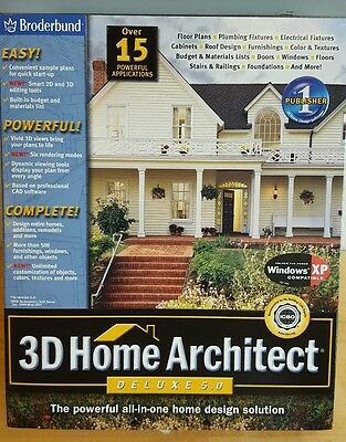 Broderbund 3D Home Architect Deluxe 5.0 NEW SEALED Win 98/Me Win 00/XP