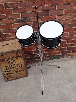 """Free P&P. 8"""" and 10"""" Toms. Great For Busking! Small Venue Gigs"""