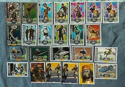Star Wars Rebel Attax card bundle - 24 cards incl. 4 holo cards - mint condition